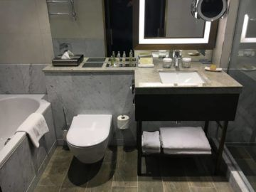 hilton budapest twin executive room badezimmer waschbecken