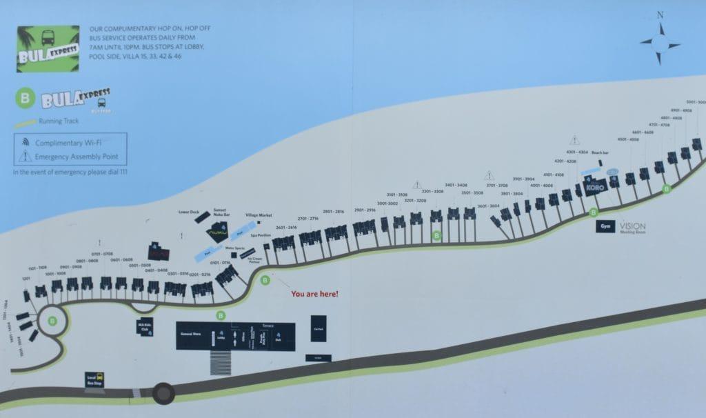 Hilton Fiji Resort Karte