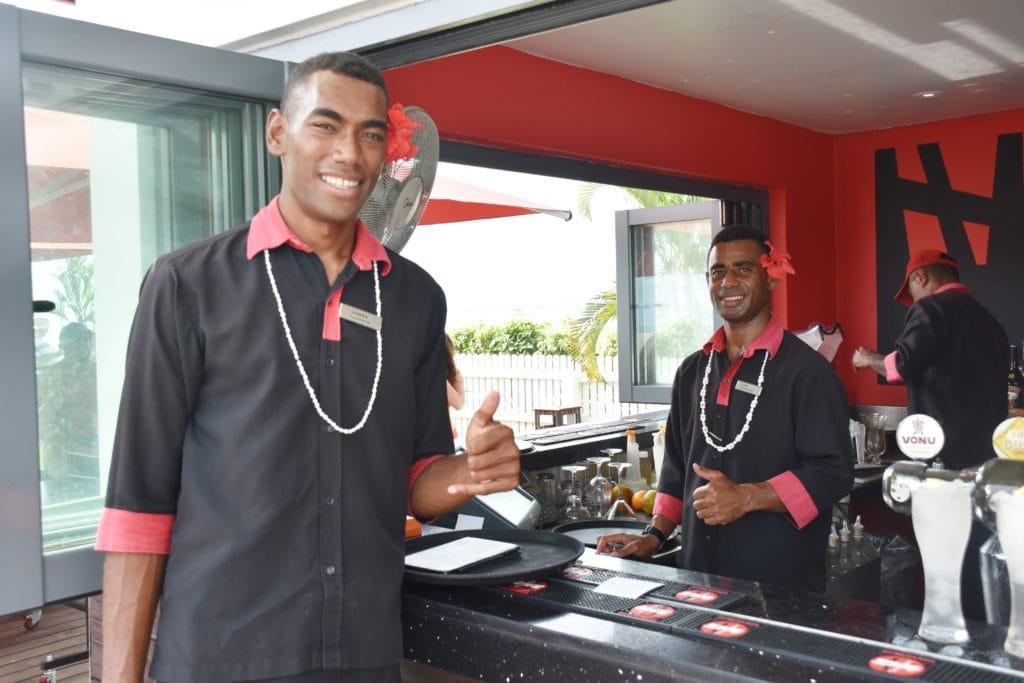 Mitarbeiter des Hilton Fiji