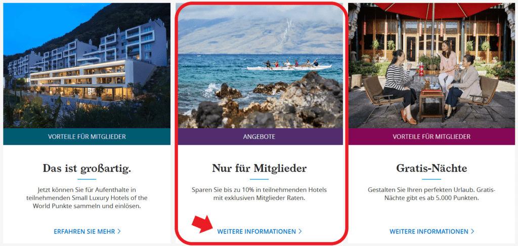 World of Hyatt Mitglieder Rate auf der Homepage finden