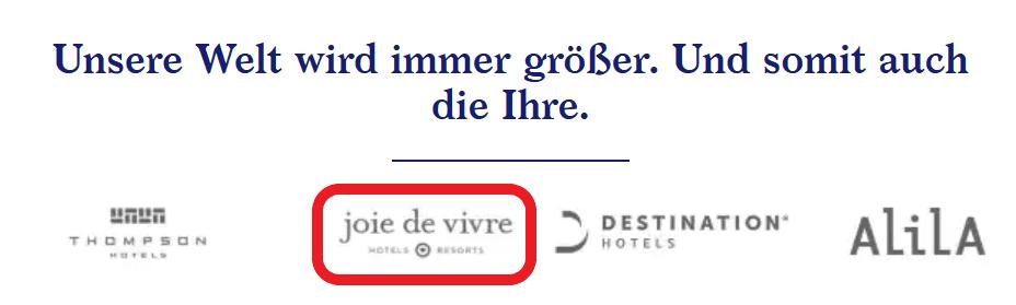 Joie de Vivre ist einer der neuen Marken unter Hyatt