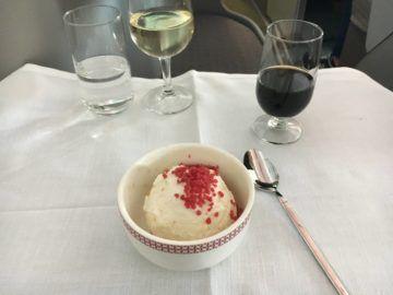 iberia business class a340 600 dessert 2