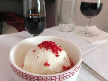 iberia business class a340 600 dessert 3