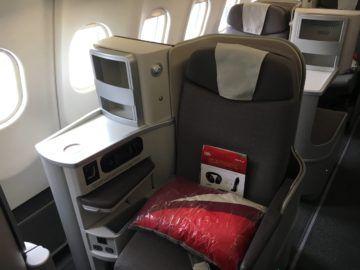 iberia business class a340 600 einzelsitz gang