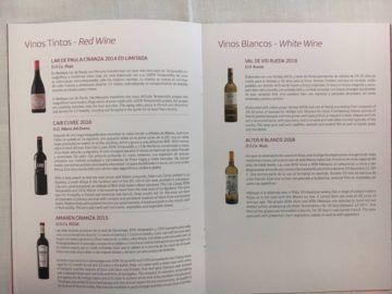 iberia business class a340 600 menu mittagessen mad lim 3