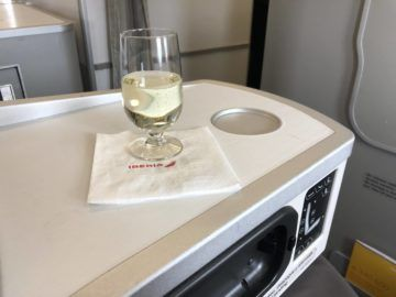 iberia business class a340 600 pre departure drink