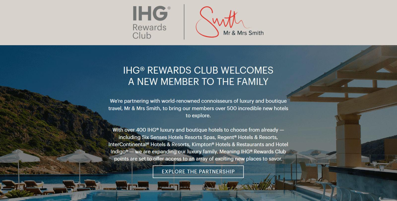 IHG kooperiert mit Mr & Mrs Smith