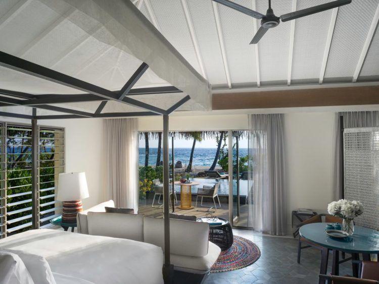 intercontinental maldives beach pool villa