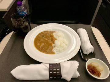 jal business class sky suite 787 8 essen curry