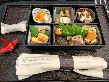 jal business class sky suite 787 8 essen vorspeise