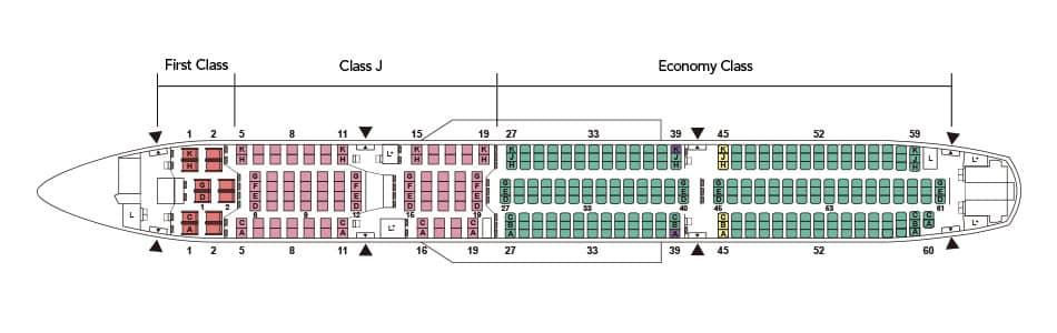 Japan Airlines A350-900 Sitzplan &copy Japan Airlines