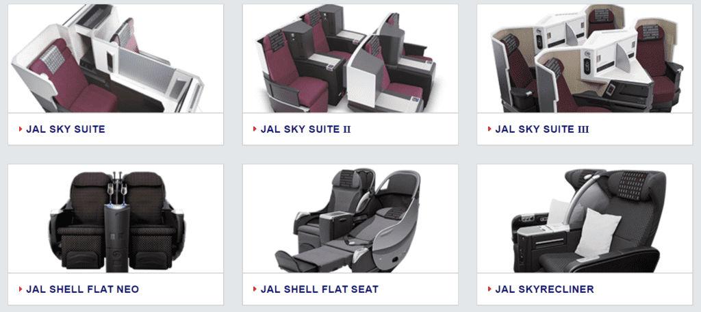japan airlines business class auszug