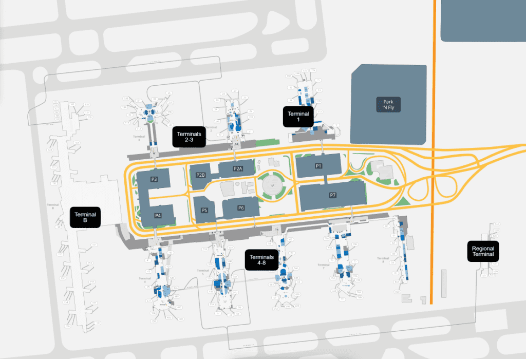 Los Angeles Airport Map