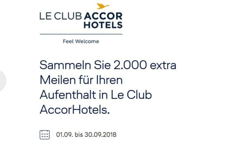 le club accor hotels angebot miles and more aktion