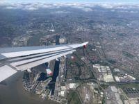 london city airport anflug blick