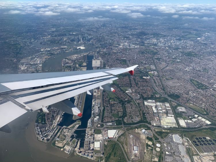 london city airport anflug blick