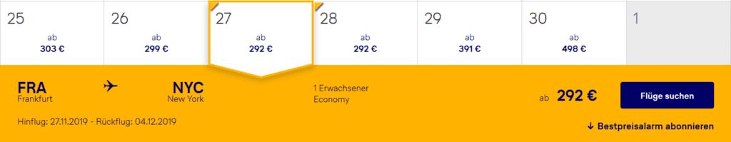 Lufthansa Bestpreissuche Flugauswahl