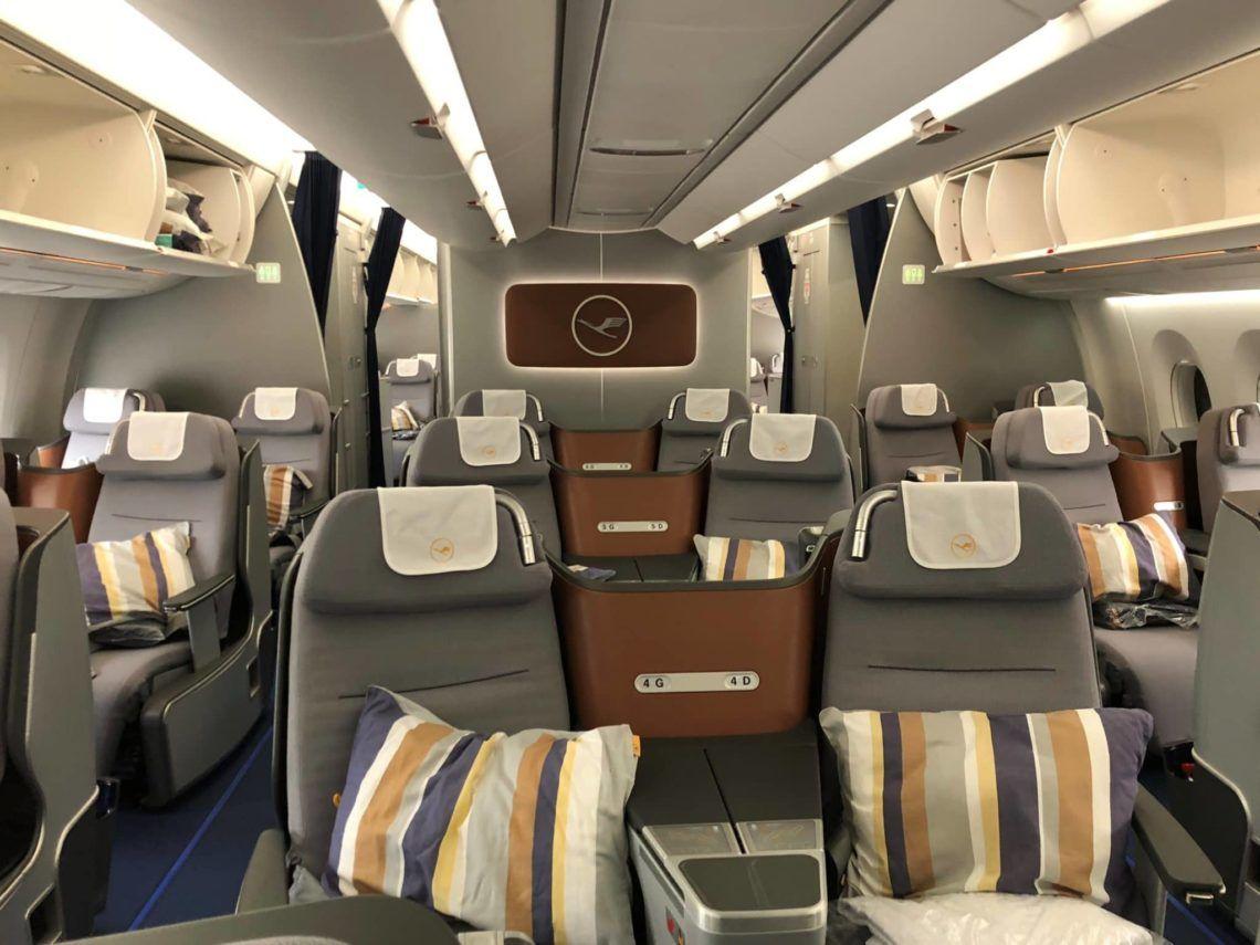 Lufthansa Business Class A350 Vordere Kabine