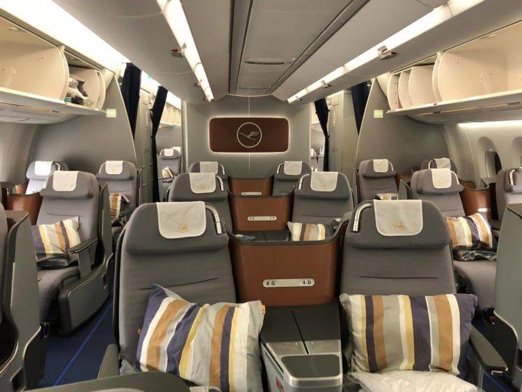 lufthansa business class a350 kabine