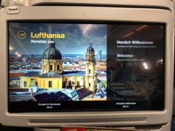 lufthansa business class a350 monitor info