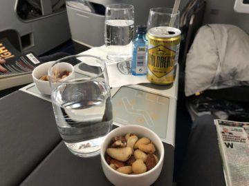 lufthansa business class a350 nuesse gin