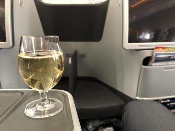 lufthansa business class a350 welcome drink