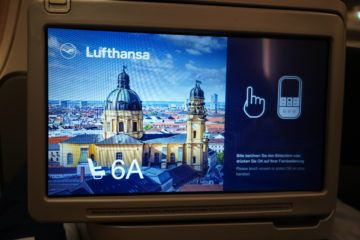 lufthansa business class airbus 350 monitor 6a