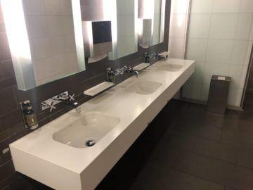lufthansa business lounge frankfurt a26 waschbereich