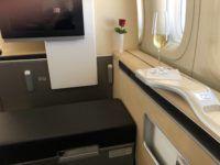 lufthansa first class boeing 747 8i blick nach vorn