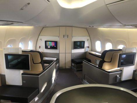 lufthansa first class boeing 747-8i nase der boeing 747