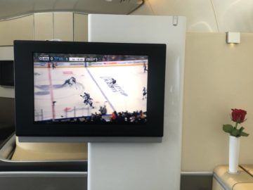 lufthansa first class boeing 747 8i live tv sports