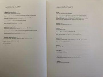 lufthansa first class boeing 747 8i menue essen