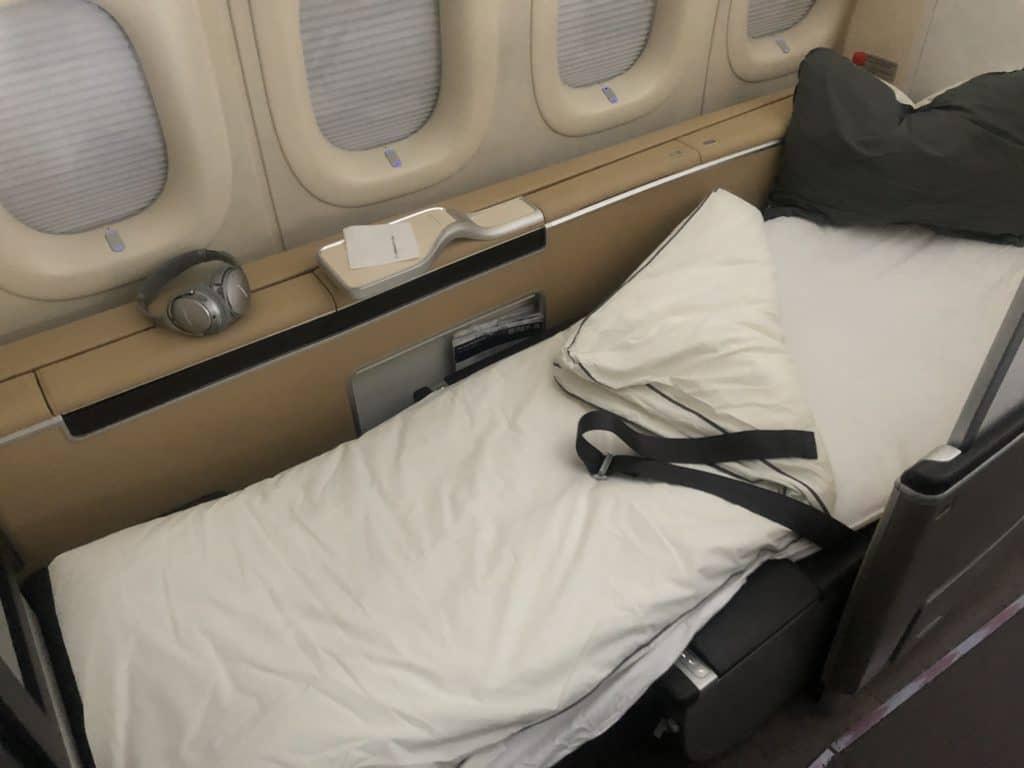 lufthansa first class boeing 747 8i sitz als bett