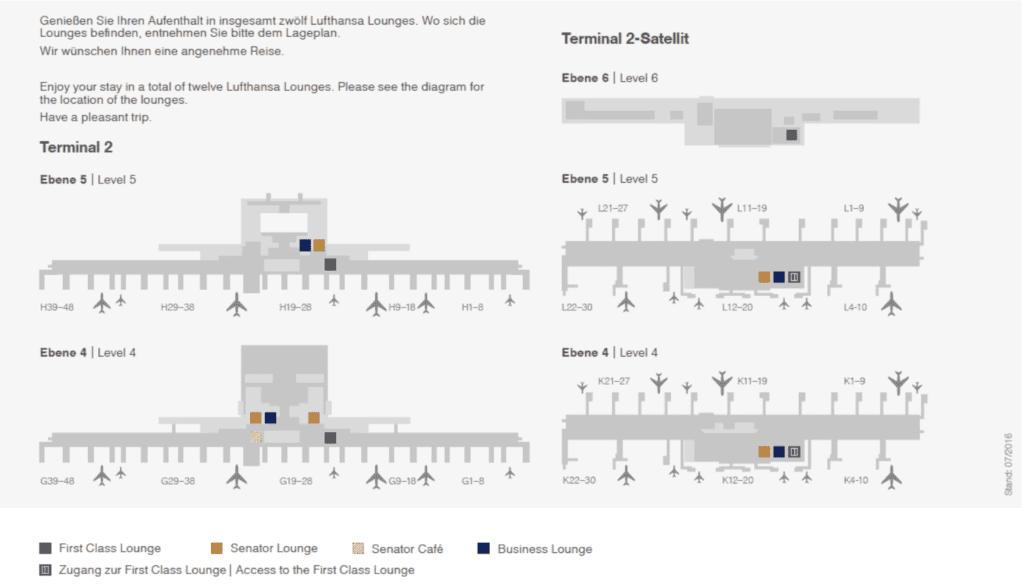 Lageplan der Lufthansa Lounges in München © Lufthansa