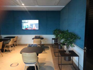 lufthansa panorama lounge frankfurt a26 sitzbereich tv