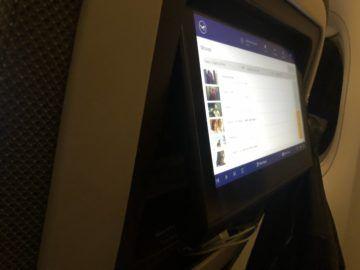 lufthansa premium economy b747 8i bildschirm klappbar