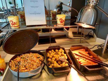 lufthansa senator lounge frankfurt c16 buffet chinesisch