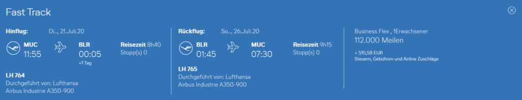 Neue Lufthansa Langstrecke ab München nach Bangalore bei Miles & More