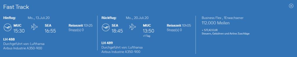 Neue Lufthansa Langstrecke ab München nach Seattle bei Miles & More