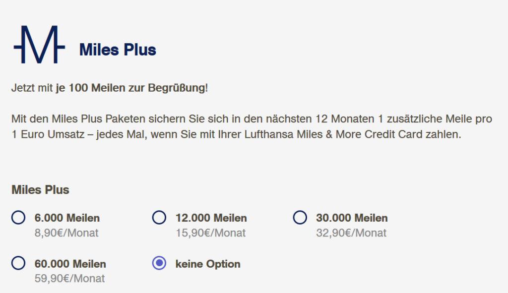Miles Plus Pakete