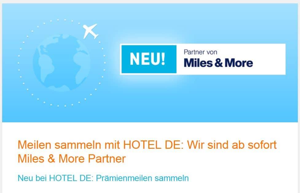 miles and more meilen sammeln hotel de