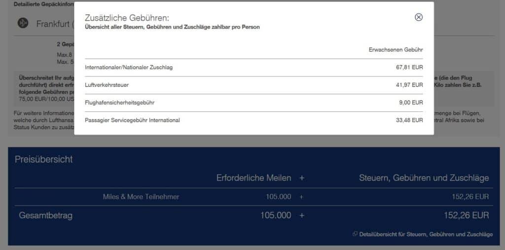miles and more praemienflug ana frankfurt tokio zuzahlungen
