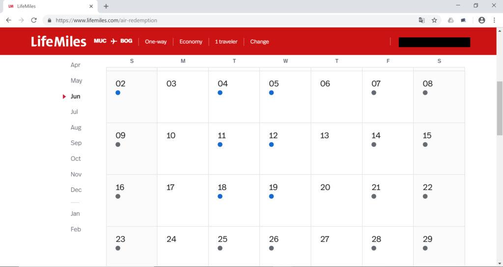 Kalenderfunktion der neuen Buchungsmaske