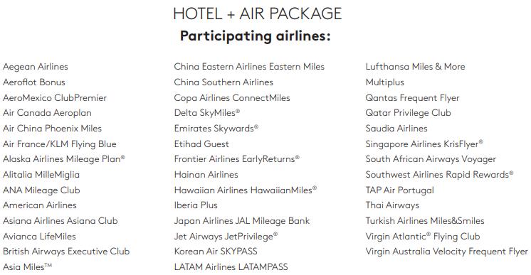 new travel package marriott rewards 2