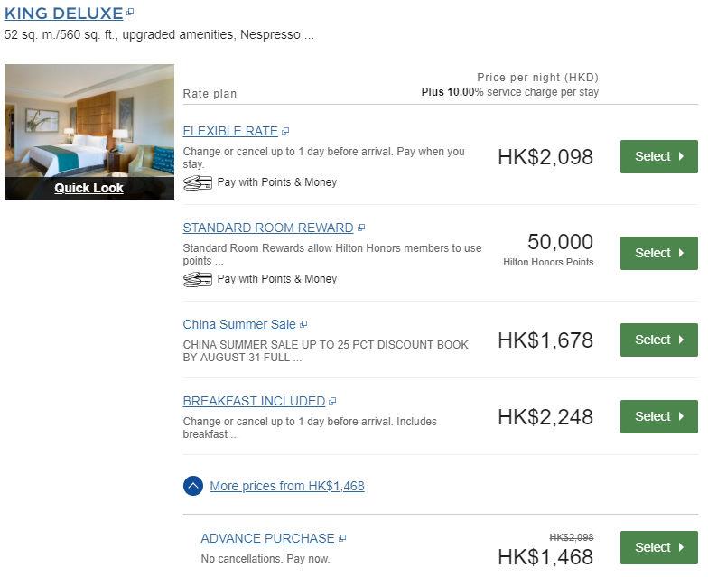 Reguläres Kind Deluxe Zimmer - Das Standardzimmer im Conrad Macau für 50.000 Punkte bzw. 1468 HKD (164€)