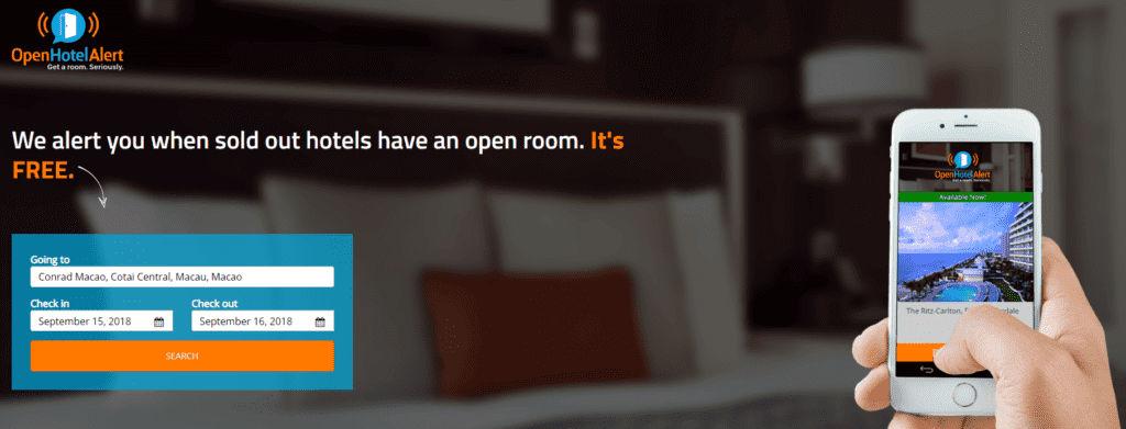 Suchmaske von OpenHotelAlert