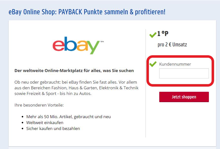 payback online shop eingabe der payback nummer und dann im nächsten Schritt Payback Punkte sammeln