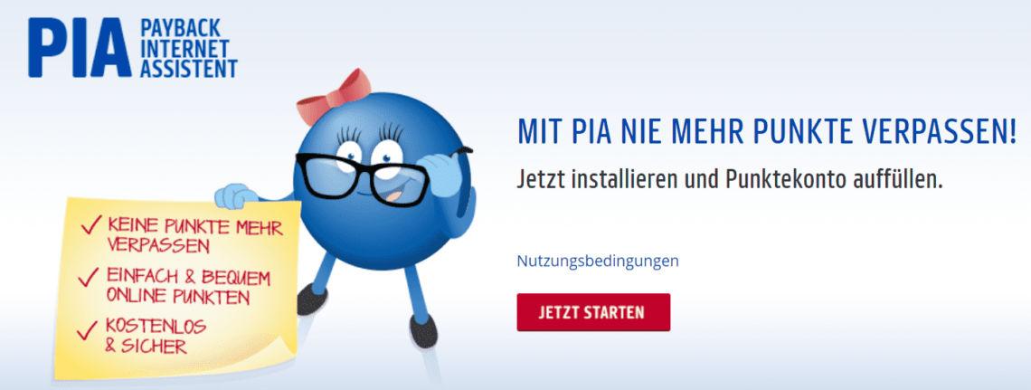 Browser Erweiterung: Payback Internet Assistent (PIA)