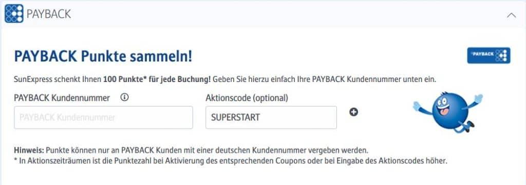 payback sunexpress aktionscode