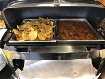 qantas business lounge auckland nachos